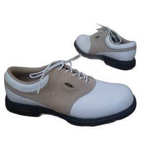 Birdie White and Cream Golf Shoes Size 7